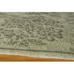 Indoor/ Outdoor South Beach Sage Bouquet Rug (3'9 x 5'9) - Thumbnail 1