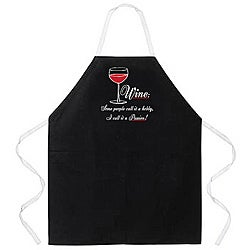 'Wine: Some People Call It A Hobby, I Call It a Passion' Apron-Black
