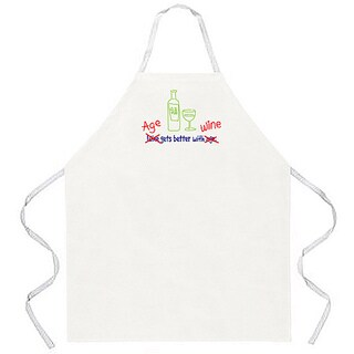 'Age Gets Better with Wine' Apron-Natural