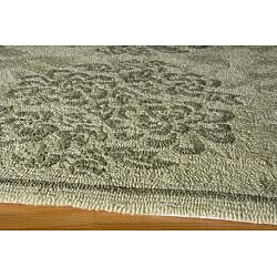 Indoor/ Outdoor South Beach Sage Bouquet Rug (8' x 10') - Thumbnail 1