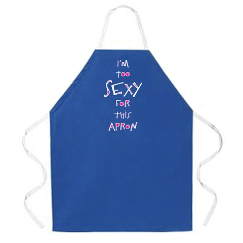 'I'm Too Sexy For This Apron' Artist Apron-Royal Blue