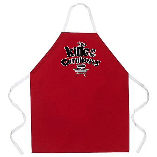 'King of the Carnivores' Apron-Red