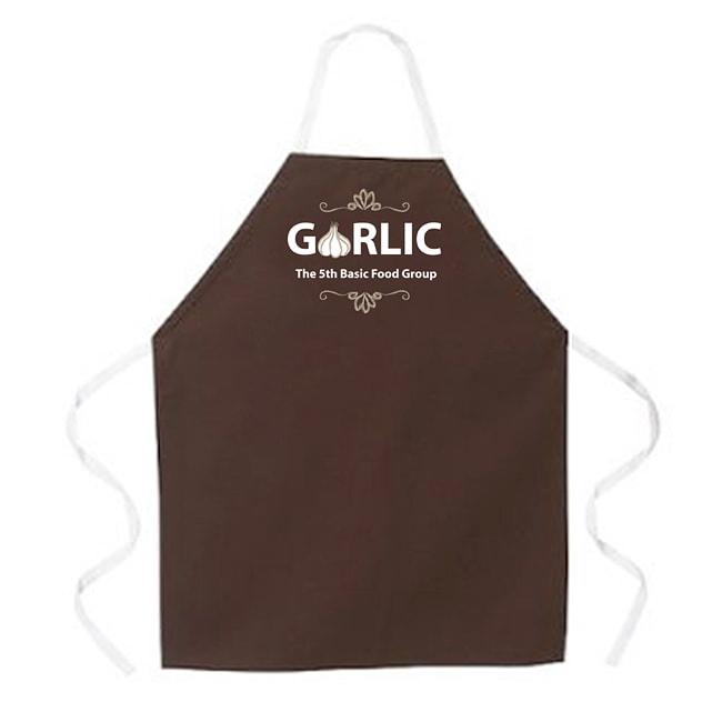 'Garlic Food Groups' Apron-Brown