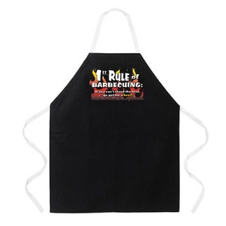 '1st Rule of BBQing' Apron-Black