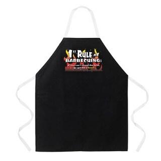 '1st Rule of BBQing' Apron-Black