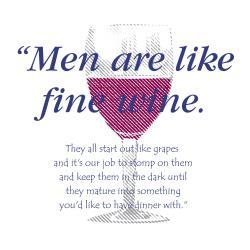 'Men Are Like Fine Wine' Kitchen Apron-Natural