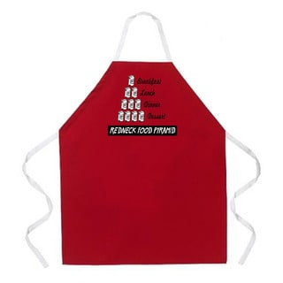 'Redneck Food Pyramid Kitchen Apron-Red
