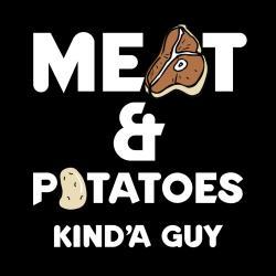 'Meat & Potatoes Guy' Kitchen Apron-Black - Thumbnail 1