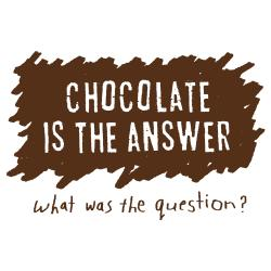 Attitude Aprons 'Chocolate is The Answer' White Apron