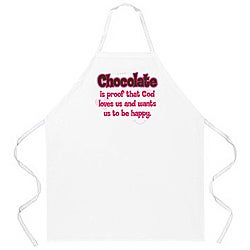 'Chocolate Is Proof' Apron-White