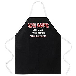 'Grill Master The Man The Myth The Legend' Apron-Black - Thumbnail 0