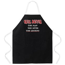'Grill Master The Man The Myth The Legend' Apron-Black