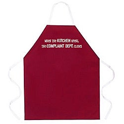 'When The Kitchen Opens, The Complaint Department Closes' Apron-Maroon