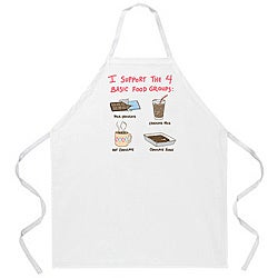 'Chocolate Food Groups' Apron-Natural