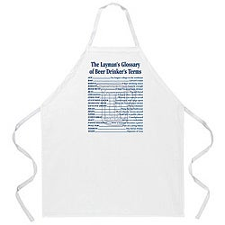 Attitude Aprons 'Beer Drinker's Terms' White Apron