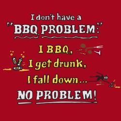 'BBQ Problem Apron-Red