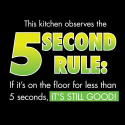 'This Kitchen Observes The 5 Second Rule' Apron-Black