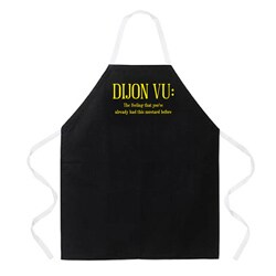 Attitude Aprons 'Dijon Vu' Black Apron