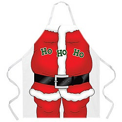 'Santa Holiday Kitchen Apron-White