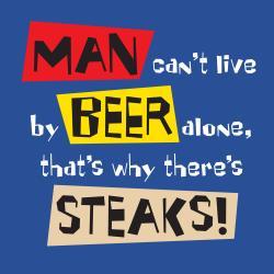 'Live by Beer Alone' Kitchen Apron-Dark Blue