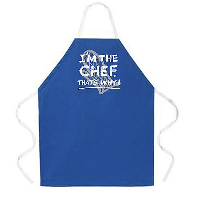 U0027Iu0027m The Chef Thatu0027s Whyu0027 Kitchen Apron Dark Blue. U0027