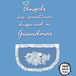 'Angels Are Sometimes Disguised As Grandmas' Kitchen Apron-Light Blue