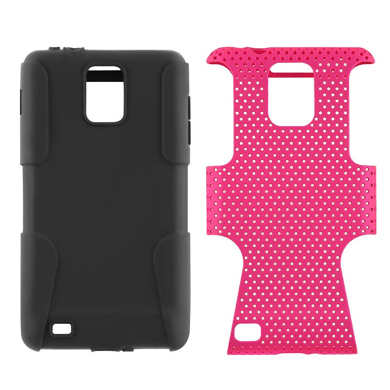 INSTEN Black/ Hot Pink Hybrid Phone Case Cover for Samsung i997 Infuse 4G - Thumbnail 0
