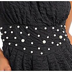 Stanzino Women's Black Strapless Mini Dress
