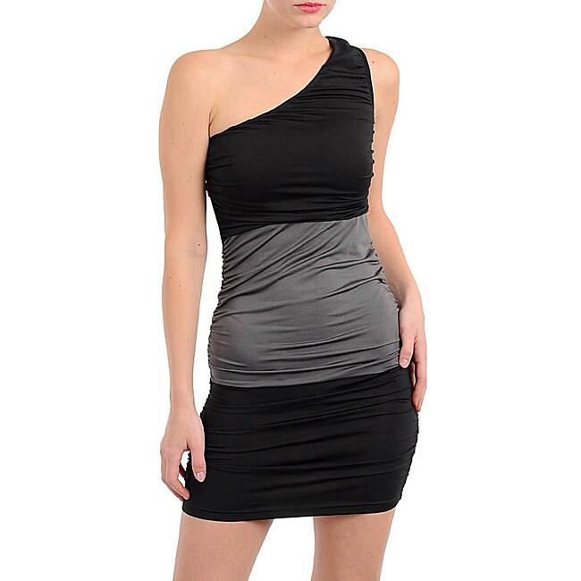 Stanzino Women's Black/ Gray One Shoulder Dress