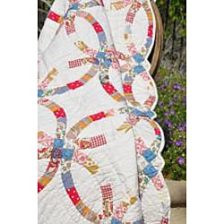 Wedding Ring Quilted Throw - Thumbnail 1