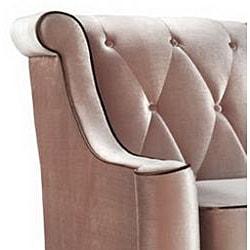 Modern Caramel Velvet Sofa