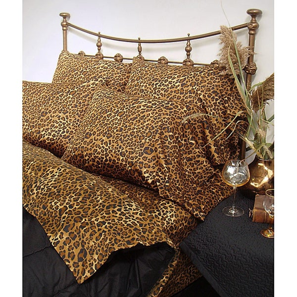 Wildlife 200 Thread Count Leopard Twin XL-size Sheet Set