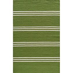 Momeni Veranda Lime Stripes Indoor/Outdoor Rug (2' X 3')