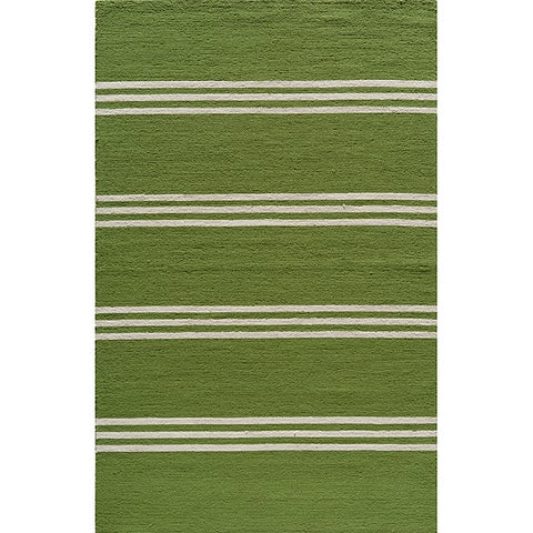 "Momeni Veranda Lime Stripes Indoor/Outdoor Rug - 3'9"" x 5'9"""