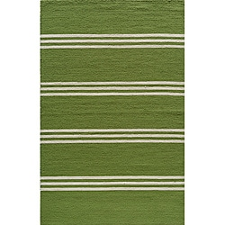 Momeni Veranda Lime Stripes Indoor/Outdoor Rug (3'9 X 5'9)