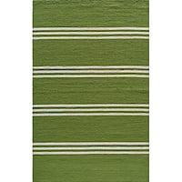 Momeni Veranda Lime Stripes Indoor/Outdoor Rug - 3'9 x 5'9