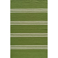 Momeni Veranda Lime Stripes Indoor/Outdoor Rug (8' X 10')