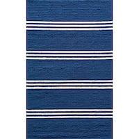 Momeni Veranda Maritime Blue Stripes Indoor/Outdoor Rug - 3'9 x 5'9