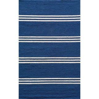 Momeni Veranda Maritime Blue Stripes Indoor/Outdoor Rug (3'9 X 5'9)