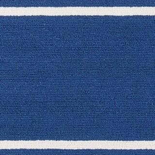 Momeni Veranda Maritime Blue Stripes Indoor/Outdoor Rug (5' X 8') - 5' x 8'