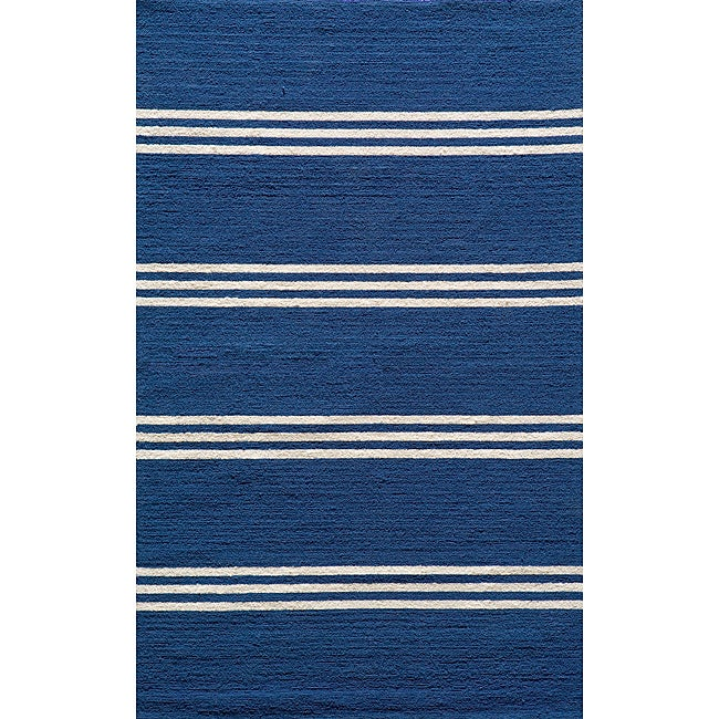 Momeni Veranda Maritime Blue Stripes Indoor/Outdoor Rug (8' X 10')