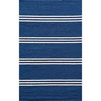 Momeni Veranda Maritime Blue Stripes Indoor/Outdoor Rug - 8' X 10'