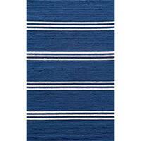 Momeni Veranda Maritime Blue Stripes Indoor/Outdoor Rug - 8' x 10'