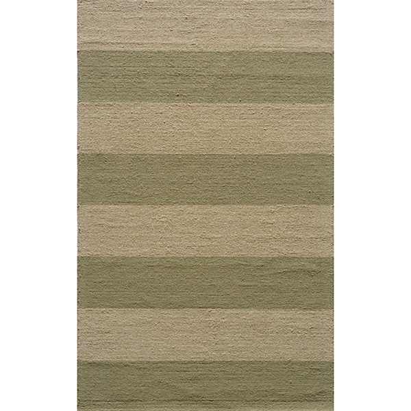 Indoor/Outdoor South Beach Sage Stripes Rug (8' x 10')