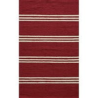Momeni Veranda Red Stripes Indoor/Outdoor Rug - 8' x 10'
