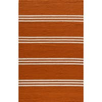 Momeni Veranda Tangerine Stripes Indoor/Outdoor Rug - 3'9 x 5'9