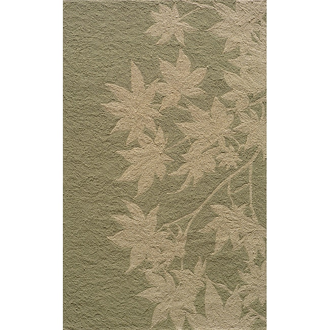 "Indoor/Outdoor South Beach Sage Vine Rug (3'9"" x 5'9"") - Thumbnail 0"