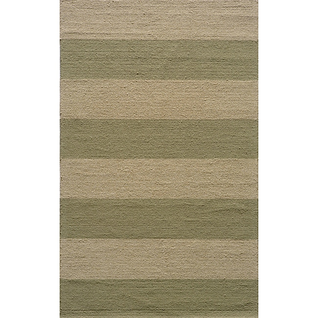"Indoor/Outdoor South Beach Sage Stripes Rug (3'9"" x 5'9"")"