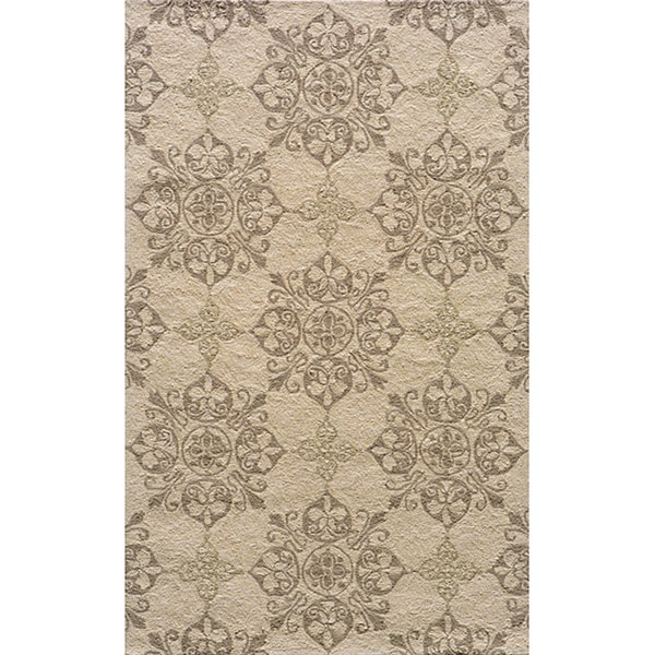 Momeni Veranda Beige Moroccan Tile Indoor/Outdoor Rug - 3'9 x 5'9