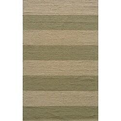Indoor/Outdoor South Beach Sage Stripes Rug (2' x 3')